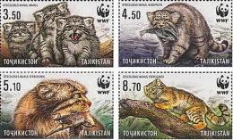 Tajikistan 2017 Mi#755-58A WWF  Wild Cat Manul  4v - Tadschikistan
