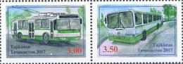Tajikistan 2017 Mi#775-76A City Transport  Pair Of 2v - Tadschikistan