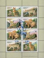 Tajikistan 2017 Mi#784-91 KB WWF Cats 2002  MS Of 8v Ovpt - Tajikistan