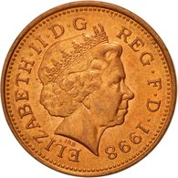 Monnaie, Grande-Bretagne, Elizabeth II, Penny, 1998, TTB, Copper Plated Steel - 1971-… : Monnaies Décimales