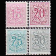 BELGIUM 1959 - Scott# 408-12 Lion Rampant 15-30c MNH - Belgium