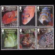GUERNSEY 2013 - Scott# 1194-9 Fish Set Of 6 MNH - Guernsey