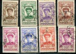 7862   INDOCHINE  N°171/8°  :  Série Pour L'ANNAM  Empereur Bao Daï   1936    TB - Usati