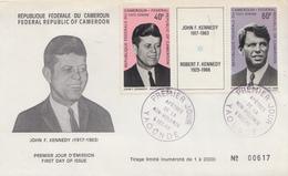 Enveloppe  FDC  1er  Jour    CAMEROUN    Président   John  KENNEDY   1973 - Kennedy (John F.)