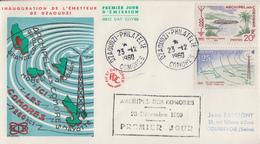 Enveloppe  FDC  1er  Jour   ARCHIPEL  Des  COMORES   Inauguration  De  La  Radiodiffusion   1960 - Non Classificati