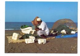 OMAN - Fisherman, Mending Nets - Oman