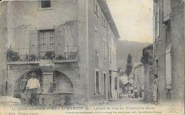 Puy-St-Saint-Martin (La Drôme Illustrée) - Lavoir Et Rue Du Champ De Mars - Collection Lux, Edition Lang - Frankrijk
