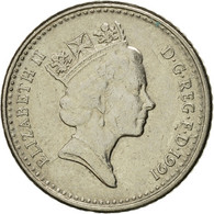 Monnaie, Grande-Bretagne, Elizabeth II, 5 Pence, 1991, TTB, Copper-nickel - 1971-… : Monnaies Décimales