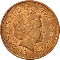 Monnaie, Grande-Bretagne, Elizabeth II, Penny, 1998, TTB+, Copper Plated Steel - 1971-… : Monnaies Décimales