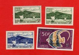 Lot De 4 Timbres ARCHIPEL DES COMORES Neufs Xx - Stamps