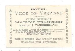 Verviers - Café , Restaurant, Hôtel--Maison Franssen Tenue Par J. Vandooslaer.(C.5999) - Verviers