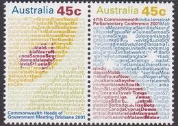 Australia ASC 1938-1939 2001 Commonwealth Parliamentary Meetings, Mint Never Hinged - 2000-09 Elizabeth II