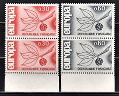 FRANCE 1965 -  SERIE 2 PAIRES NEUFS** / Y.T. N° 1455 / 1456 - Unused Stamps