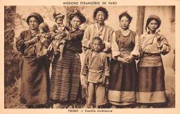 Asie . N° 49673 . Chine . Tibet . Famille Chrétienne - Tibet