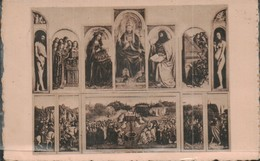 Gand Eglise St Bavon Tableaul Adoration De L Agneau Par Hubert Et Jean Van Eyck - Gent