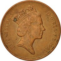 Monnaie, Grande-Bretagne, Elizabeth II, 2 Pence, 1993, TTB, Copper Plated Steel - 1971-… : Monnaies Décimales