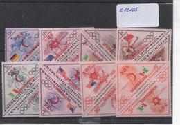 "1956 DOMINICANA 8 Valeurs Surchargées "" Refugiados"" - Sommer 1956: Melbourne"