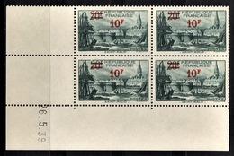 FRANCE 1941 - BLOC DE 4 TP  Y.T. N° 492 - COIN DE FEUILLE / DATE / NEUFS** - Coins Datés