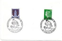 OISEAU = 39 LONS Le SAUNIER 1974 = CACHET  Illustré D' Une TETE De RAPACE = PROTECTION De La NATURE Du JURA - Marcophilie (Lettres)