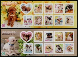 Japan (2015) - 2 MS -   /  Familiar Animals #1 - Puppies - Perros - Dogs - Chiens - Hunde - Hunde
