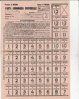 16248) MESSINA CARTA ANNONARIA INDIVIDUALE OTTIMO STATO 19 X 27 Cm - Documenti Storici