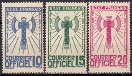 France - Timbre De Service - N° 13 à 15 Neufs Sans Charnière. - Nuevos