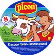 ETIQUETTE FROMAGE FONDU POUR TARTINE -  PICON -   8 Portions  -   HTE SAVOIE -  74 - Cheese