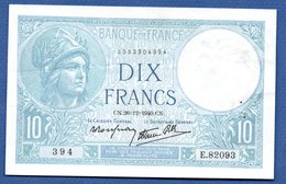 Minerve   - 10 Francs 26/12/1940  -- état  TTB - 1871-1952 Antichi Franchi Circolanti Nel XX Secolo