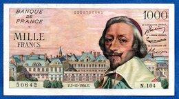 Richelieu  - 1000 Francs 2/12/1954  -- état  TTB - 1 000 F 1953-1957 ''Richelieu''
