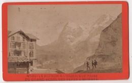 CDV Photo Originale XIXème Murren Grand Hôtel Des Alpes Moench Eiger Par Leuthold Interlaken Cdv 2340 - Photos