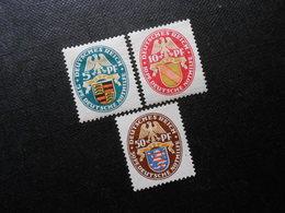 D.R.Mi 398Y/399Y/401X*MLH - 1926 - Mi** 230,00 € - Unused Stamps