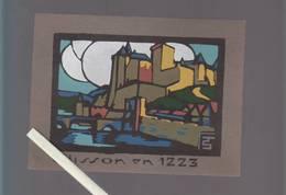 Clisson En 1223  - 12 X 16 Cm - Documentos Antiguos