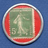 Timbre-monnaie  --  Nouvelles Galeries  - 5 Centimes Vert - Professionnels / De Société