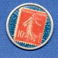 Timbre-monnaie  --  Soçiété Générale - 10 Centimes Rouge - Professionnels / De Société
