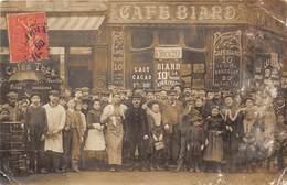 CAFE-CARTE- PHOTO-  A SITUER - Cafés