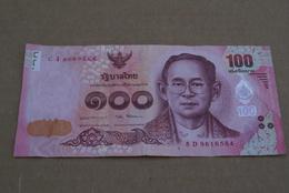BILLETE DE TAILANDIA DE 100 BATH SERIE 8D EN CALIDAD MBC (VF) (BANKNOTE) - Thailand