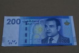 BILLETE DE MARRUECOS DE 200 DIRHAMS DEL AÑO 2012  (BANKNOTE-BANK NOTE) - Marruecos