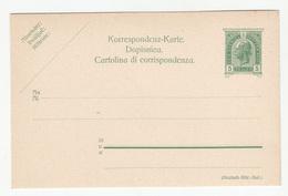 Austria - Croatian Italian Postal Stationery Korrespondenz-karte Dopisnica Cartolina Di Corrispondenza B180725 - Ganzsachen