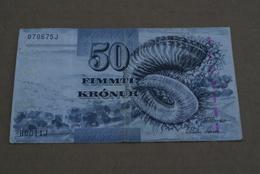 BILLETE DE FEROE DE 50 KRONUR DEL AÑO 2001 (BANKNOTE) FAROE - Billetes