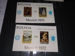 Bolivia 1972 Olympics Games MICHEL No.BL 34-35 - Bolivie