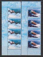 Argentina 1996 Antarctica 2v Strip Of 4 (margin)  ** Mnh (39703B) - Postzegels
