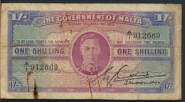 °°° THE GOVERNMENT OF MALTA 1 SHILLING °°° - Malte