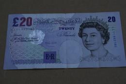 BILLETE DE REINO UNIDO DE 20 POUNDS DEL AÑOS 1999-2003 CALIDAD MBC (VF) (BANK NOTE) - 1952-… : Elizabeth II