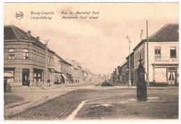 Bourg-Léopold - Marschalk Foch Straat 1925 (2 Scan's) - Leopoldsburg