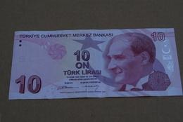 BILLETE DE TURQUIA DE 10 LIRAS DEL AÑO 2009  (BANK NOTE) - Turquie