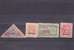 """Bhopal  Etat Princier De L'Inde  Oblitéré  1936-39  Service N° 23/26   Tp Surchargé """"SERVICE"""" - Bhopal"""
