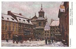 POLSKA - POLAND Postcard - WARSZAWA, Ulica Dluga, ARTIST T. CIESLEWSKI - Polonia