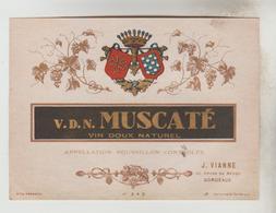 3 ETIQUETTES PUBLICITE ALCOOL APERITIF - VINS CUITS: J. VIANNE Bordeaux(33),VERARD VERDIER ELLIE Bx, APERITIF à Base Vin - Etiquettes