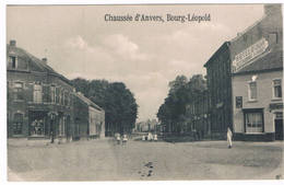 Bourg-Léopold - Chaussée D'Anvers 1913  (Geanimeerd) - Leopoldsburg