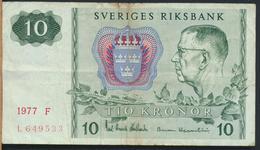 °°° SWEDEN 10 KRONOR 1977 °°° - Svezia